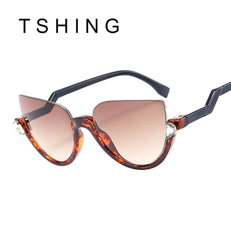 Half Frame Prescription Glasses : TSHING Brand Half Frame Cat Eye Sunglasses 2016 New Women ...
