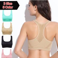 Professional Absorb Sweat Top Athletic Vest Tanks , Gym Fitness Women Seamless Padded Sports Bra