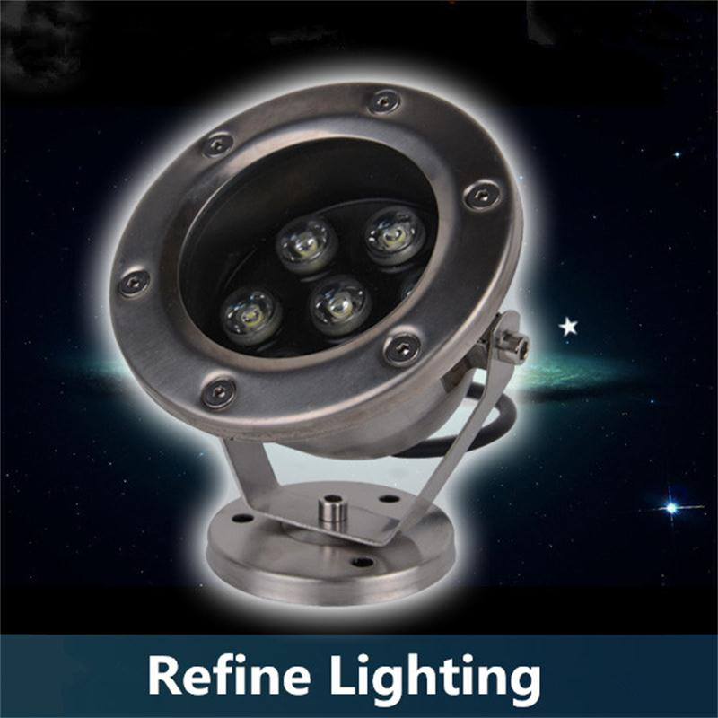 7W LED Underwater Lights Spotlights Stainless Steel Fountain Pool Lamps Park Outdoor Landscapet Lighting Fish Pond Spotlights(China (Mainland))