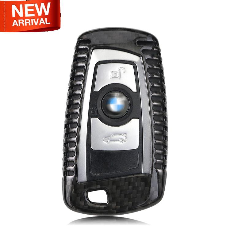 2016 New 100 Genuine Carbon Fiber Car Auto Remote Key Cover Fob Holder Skin Case Shell For Bmw