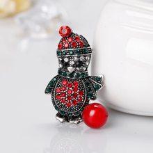 Hadiah Natal Merah Bagus Sepatu Boot Tree Hewan Bros Pin untuk Wanita Penuh Rhinestones Natal Bros untuk Tahun Baru(China)