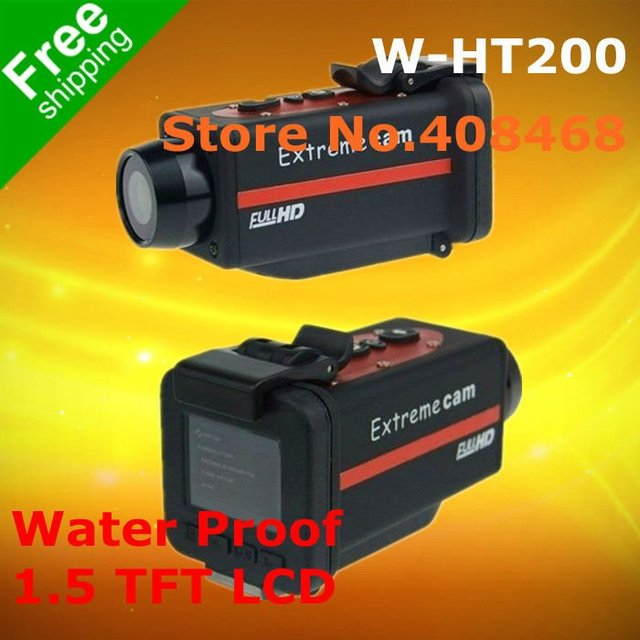 Free shipping ! Helmet Camera HT200 , Car Camera with Full HD 1920*1080P + H.264 + Waterproof + Wide Angle 150 Degrees !