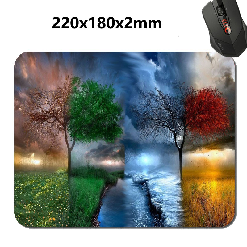 Wonderful Nature Seasons All Seasons in One Art Mouse Mat Custom High Quality Non-slip and Durable Computer and Laptop Mouse Pad(China (Mainland))