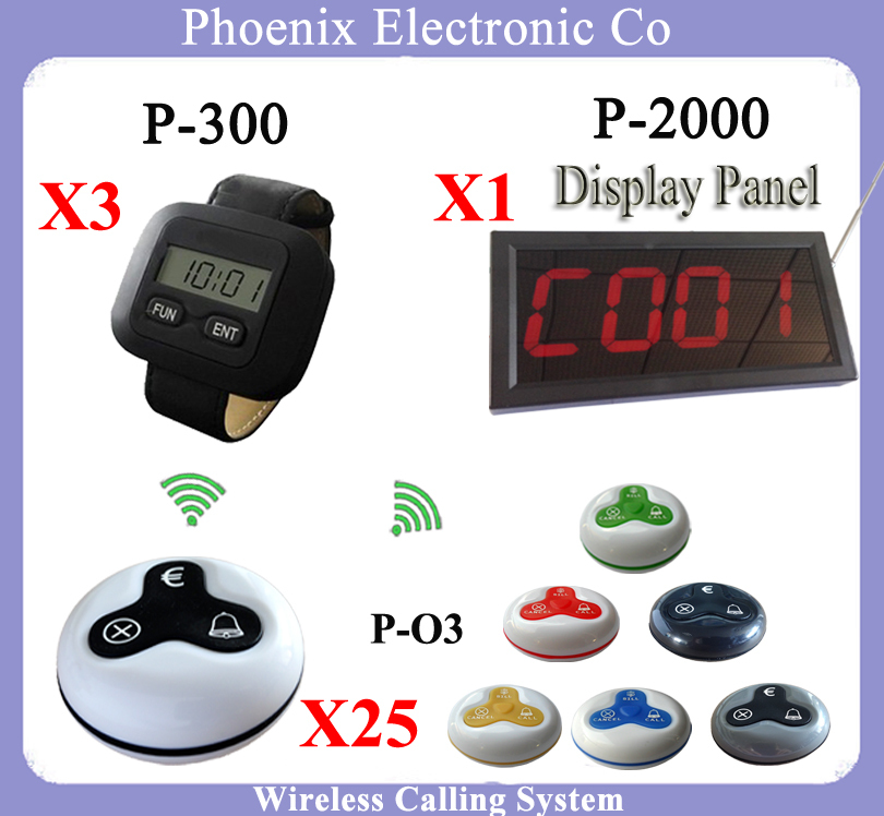 Restaurant Wrist Pager Watch And Call Button For Waiter Calling System(China (Mainland))