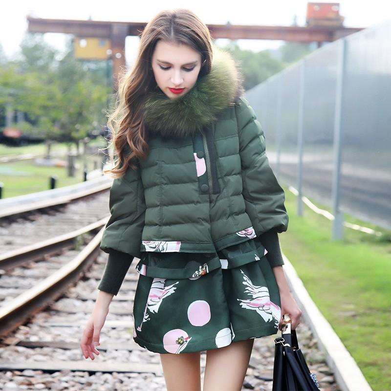 New-2015-Winter-fashion-patchwork-fur-collar-thicken-down-coat-for-women-warm-slim-down-jackets