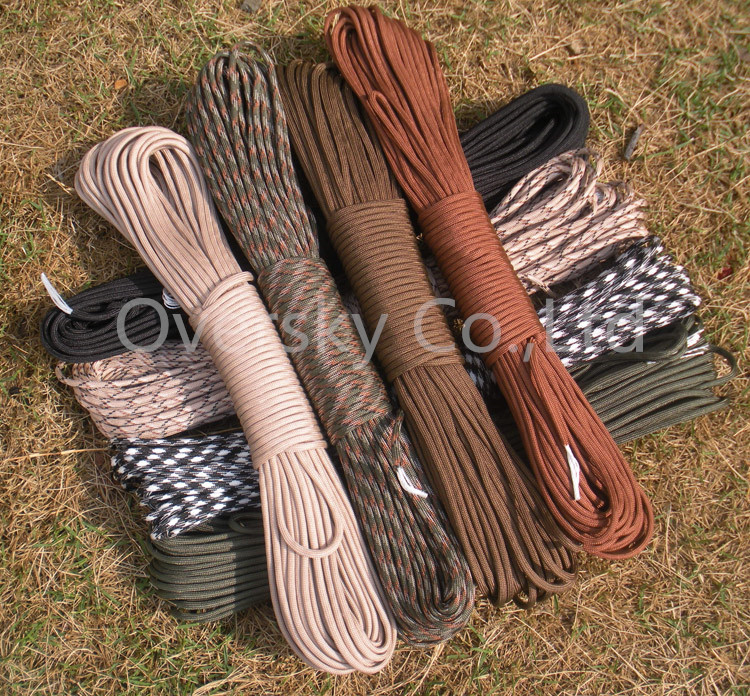 108 colors Paracord 550 Paracord Parachute Cord Lanyard Rope Mil Spec Type III 7Strand 100FT Climbing