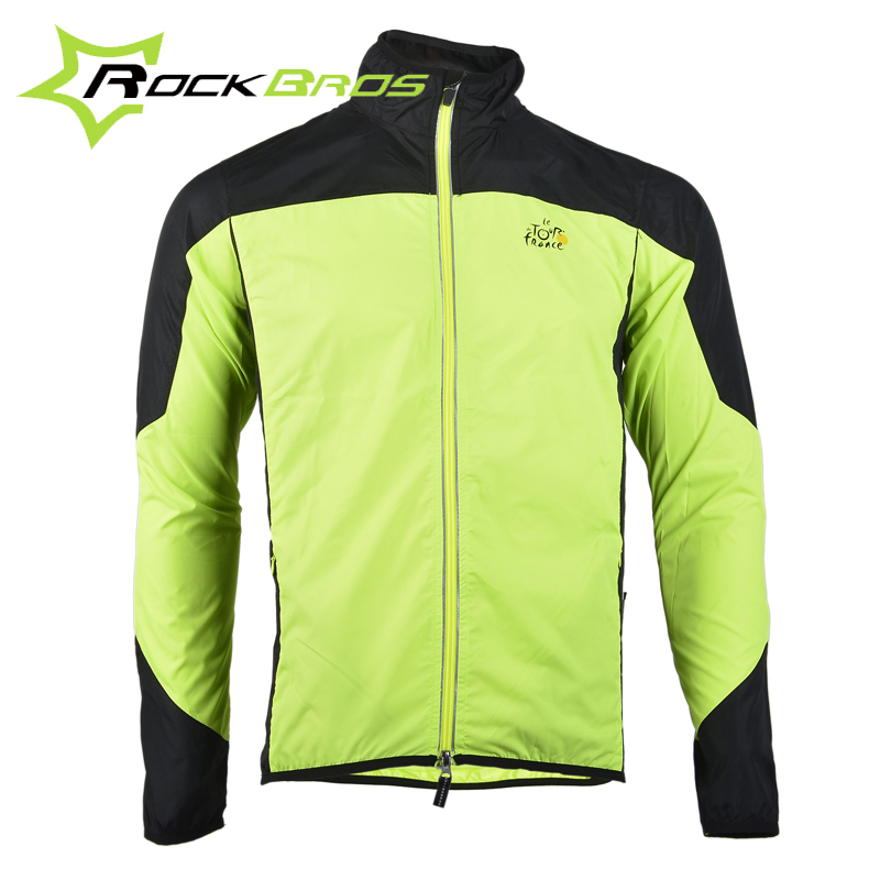Tour de France ROCKBROS Cycling Clothing Men Women Wear Riding Breathable Reflective Jersey Bicycle Bike Wind Rain Coat Jacket(China (Mainland))