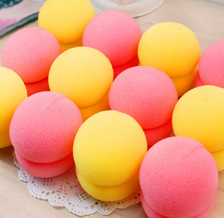 12pcs Soft Ball Magical Sponge Hair Curler Hair Roller Balls Hair Styling Tools(China (Mainland))