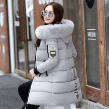 Nouveau 2018 hiver veste femmes coton manteau fourrure col capuche Parka femme longues vestes épais chaud survêtement chaqueta mujer ST157(China)