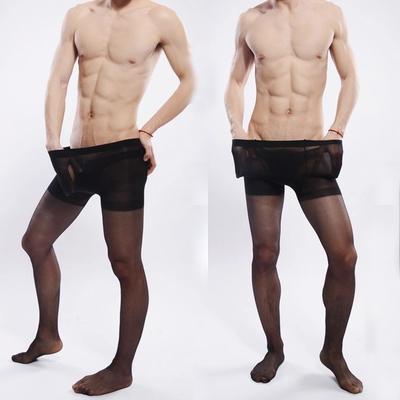 2016 fashion Men's ultra-thin stocking pantyhose for socks men Gay Underwear stretch tights pantyhose Core-spun yarn stockings(China (Mainland))