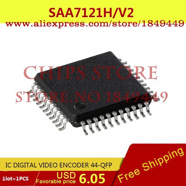 Free Shipping Electronic Voltage Regulator SAA7121H/V2,557 IC DIGITAL VIDEO ENCODER 44-QFP SAA7121H 7121 SAA7121 1pcs(China (Mainland))