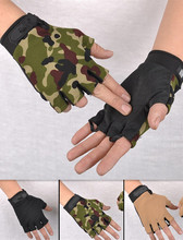 Outdoor driving tactical exercise half finger fitness gloves sports fingerless microfiber mens&womens training gloves L