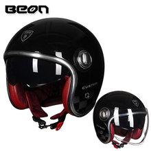 Beon Helm Vintage Scooter Helm Wajah Terbuka Helm Moto Cross Vintage Casque Moto Casque Casco Capacete Helm Retro(China)