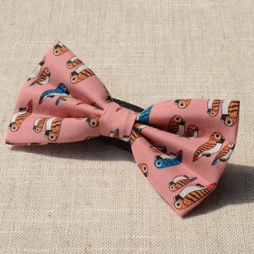 Personality parrot fashion pink bow tie,mens bowtie,ties men,tie,necktie,women bowtie,bow,butterfly tie men - by sunny store