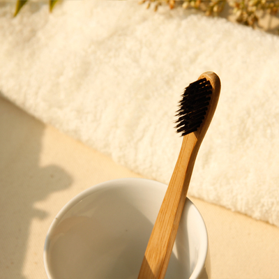 free shipping 1lot=5pcs Raw bamboo charcoal toothbrush bamboo handle toothbrush eco bamboo toothbrush small gift(China (Mainland))
