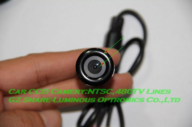 Professional! High Quality HD CCD Rear View Reverse Camera with 480TV Line/6 Layers/NTSC/Night Vision/170 Degree Free HKPAM