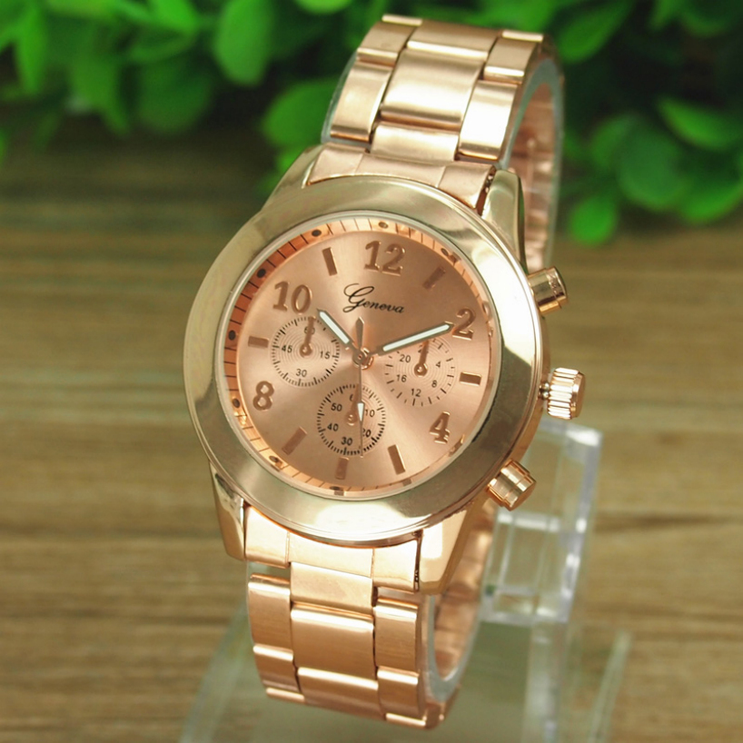 Essential Shock Resistant Ladies Women Girl Unisex Stainless Steel Bracelet Wrist Watch Quartz Dress Watches(China (Mainland))