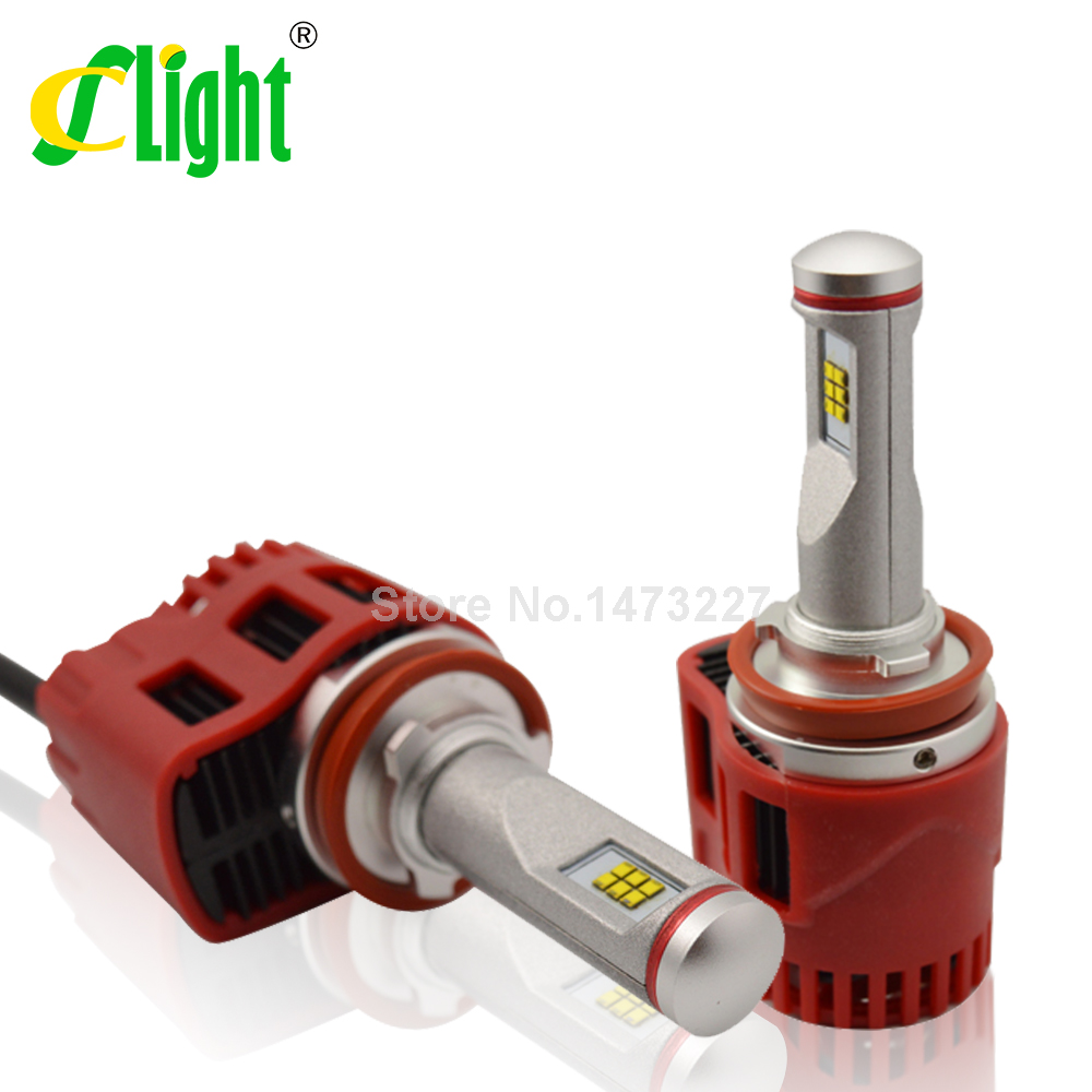 Фотография NEW Plug & Play H11 H8 H9 ZES LED 45W 4500LM 3000K 5000K 6000K BULB REPLACEMENT CONVERSION DRL Fog HEADLIGHT With Turbo Fan
