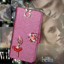 Buy Luxury PU Leather Wallet Case iPhone 6 6S Flip Cover Shining Crystal Bling Case Card Slot & Bling Diamond for $2.44 in AliExpress store