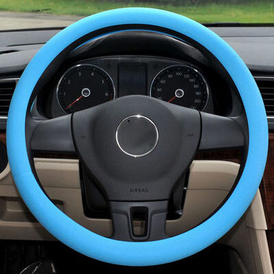 Car-styling Silicone Steering Wheel Skin Cover For Volkswagen vw Jetta Tiguan POLO Passat CC Golf GTI R20 R36 EOS Scirocco(China (Mainland))