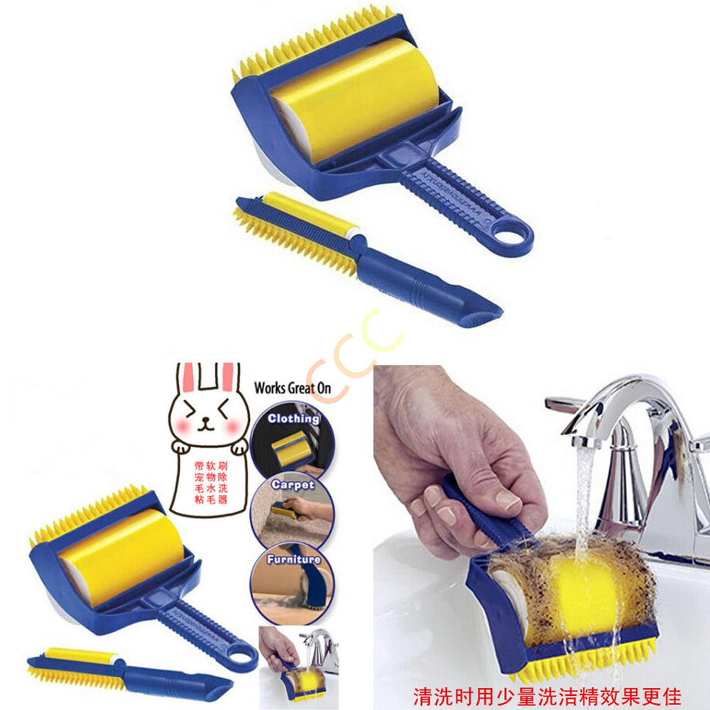 Sticky Roller Brush Cleaner Foldable Washable Lint Dust Hair Remover Roller Brush(China (Mainland))