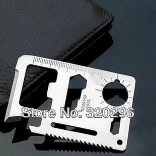 High Quality Universal Outdoor Lifesaving Saber Card / Camping Card (Gift Black Holster)