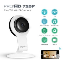 Buy SANNCE 720P Wifi IP Camera 1.0MP Wireless Home Security Smart CCTV Camera P2P Baby Monitor Network Mobile Remote IR Night Vision for $35.99 in AliExpress store