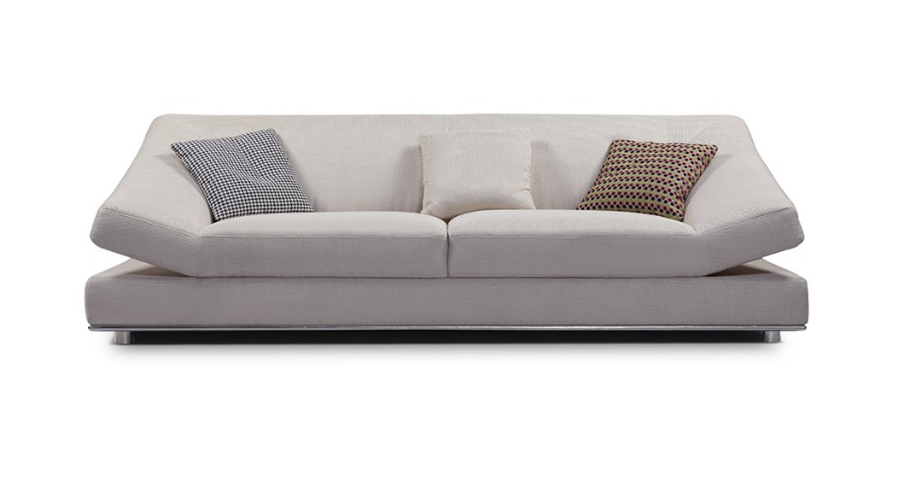 Promotion Modern furniture / living room unfolding sectional sofa with stainsteel legs MCNO9829(China (Mainland))