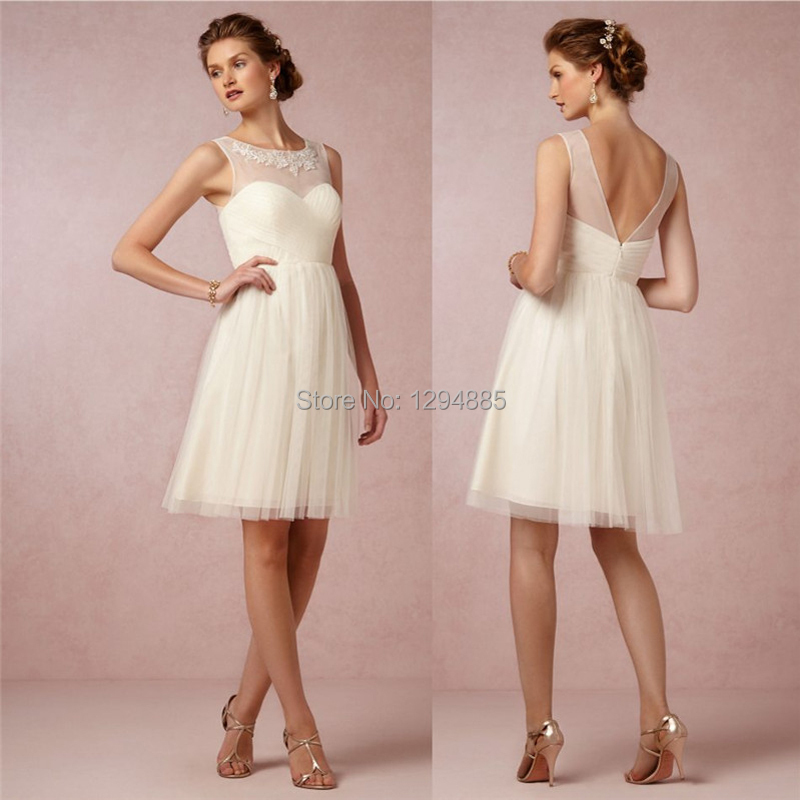 2015 appliques pleat sexy short bridesmaid dresses for Elegant wedding party dresses