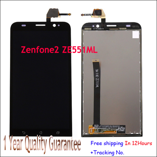 Stock!! Original LCD Display Digitizer for ASUS Zenfone 2 ZE551ML 5.5'' +Touch Screen Assembly Parts 100% Tested Before Shipping