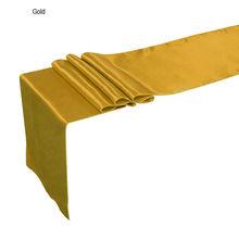 new wedding decoration satin table runner modern satin table flag for vintage easter festival cheap gold
