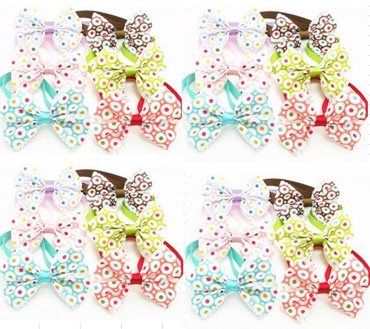 50pc/lot Big sale Pet Dog Bow Ties Cute Neckties with bell Pet Puppy Dog Cat Ties Accessories Grooming Supplies BN90(China (Mainland))