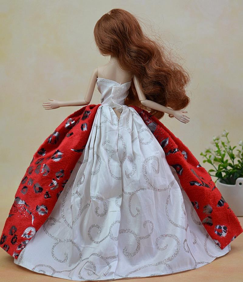 Vogue Handmade Doll Garments Marriage ceremony Gown Princess Robe For Barbie Dolls Vestidos Attire For 1/6 BJD Dolls