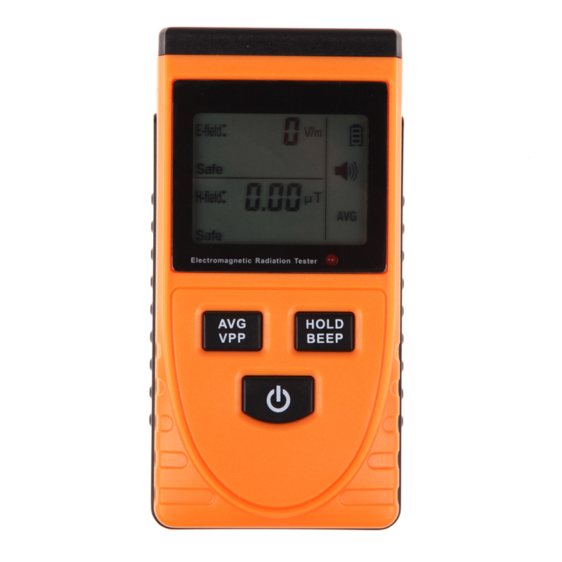 Professional Digital LCD Electromagnetic Radiation Detector Meter Dosimeter Tester Without Battery
