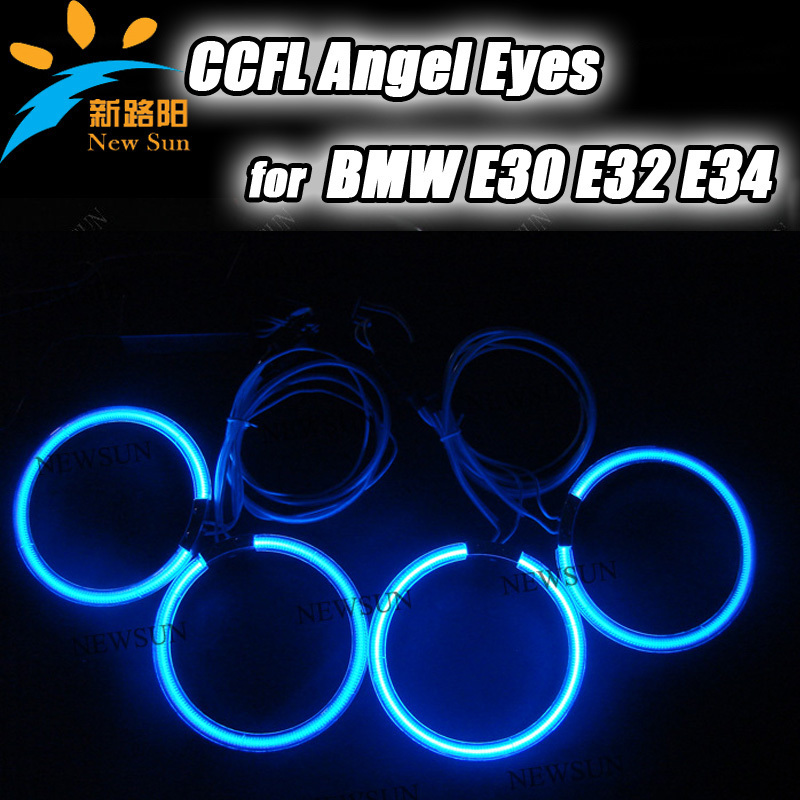 Super Bright Colorful CCFL Angel Eyes for BMW E30 E32 E34 Halo Ring Car Angel Eyes bulbs lamps kit white blue green red Purple(China (Mainland))