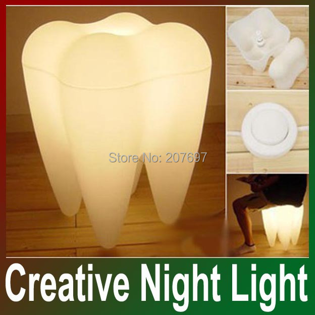 Free Shipping Drop Shipping Creative Night Lamp Tooth