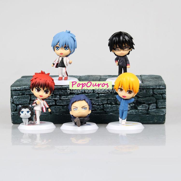 2014 New High Quality Cute Kuroko's Basketball PVC Action Figures Kagami Taiga/Kuroko Tetsuya toys 5PCS/SET Gift For Children(China (Mainland))