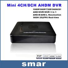 Mini DVR 4Channel 8Channel CCTV AHD DVR AHD-M Hybrid DVR 1080P NVR 4in1 Video Recorder For AHD Camera IP Camera Analog Camera