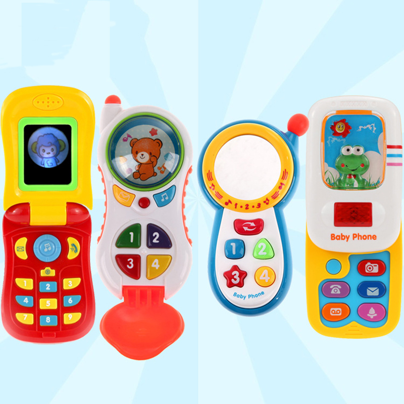 1pc Children Kids Electronic Mobile Phone with Sound Smart Phone Toy Cellphone Early Education Toy Infant Toys(China (Mainland))