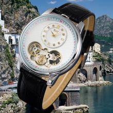 Jargar ver tabla volante para hombre reloj mecánico reloj ocasional del mens populares miran jjt004-jjt005