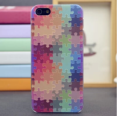 One Piece High Quality Jigsaw Puzzle Case Cover For iPhone 5 5S iPhone Case Durable 5 Series Cover Case For Phone(China (Mainland))