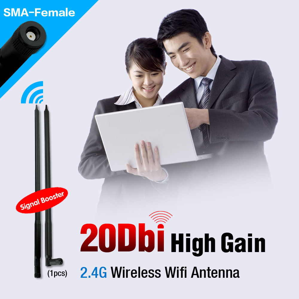 RP-SMA 2.4GHz 20dBi WIFI Wireless Directional Antenna Router ForModem PCI Card 50W 44CM(17inch)(China (Mainland))