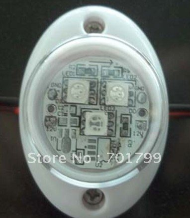 flat type LED module,30mm diameter,3pcs 5050 SMD LED, without IC,20pcs a string,DC12V input