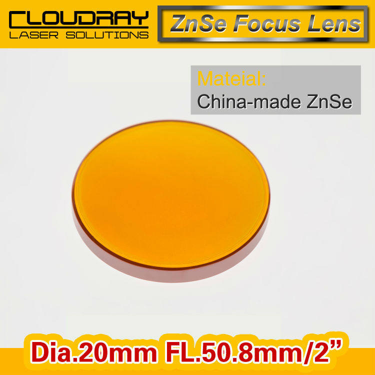 """China ZnSe Focus Lens CO2 Laser Engraving Cutter DIa. 20mm Focal 50.8mm 2"""" Free Shipping(China (Mainland))"""