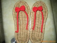 Supply handmade sandals slippers hemp shoes bow sandals crochet sandals