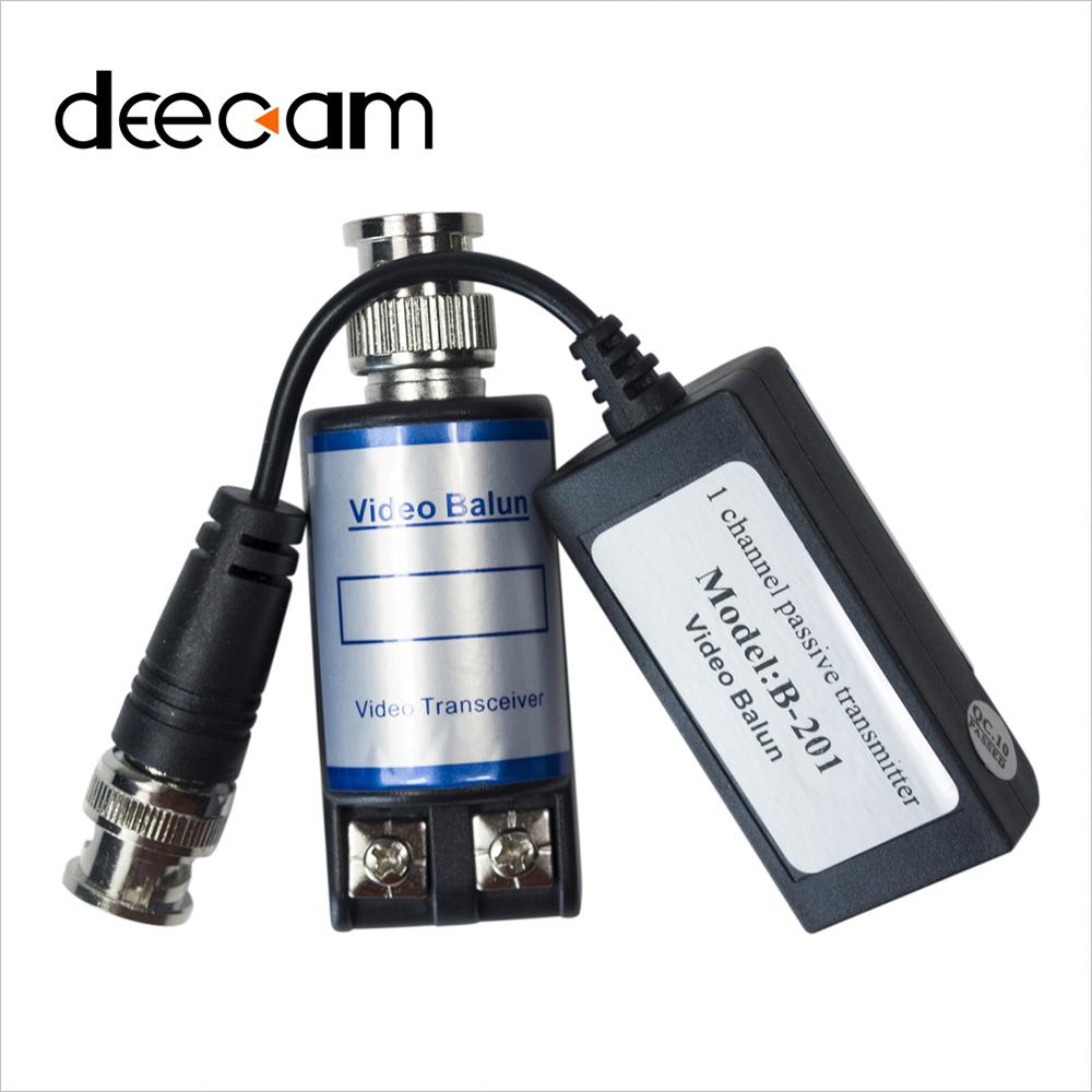 Deecam 100% Top Quality 1 Pair Single Passive Twisted Video Cameras Balun CCTV Video Balun Transmission UTP Balun BNC Connector(China (Mainland))