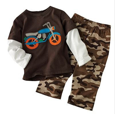 ST123, Motorcycle, 6sets/lot, Baby/Children boys clothing sets, pajamas, long sleeve T shirt + pant sets 1-5Y<br><br>Aliexpress