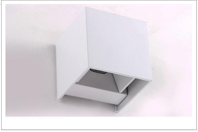 Купить 2 шт. IP65 водонепроницаемый куба регулируемый поверхностного монтажа крытый и открытый светодиодное освещение открытый настенный светильник вверх и вниз под стены лампы