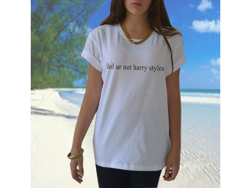 Lol ur not harry styles t shirt 1D One Direction band tumblr Funny Casual tees Women Sexy Tops Fashion Clothing Plus Size(China (Mainland))