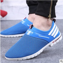 Men's Air Cheap Mesh Lace-up Genuine real leather Plus size shoes(7 -19) Breathable Platform Single Casual Loafers Male Shoes(China (Mainland))